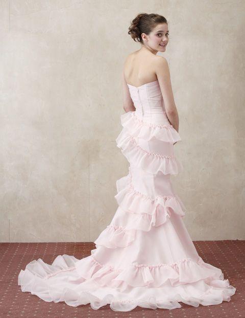 やっぱりピンクはかわいい♡ピンクのマーメイド ウェディングドレス・カラードレス・花嫁衣装のまとめ一覧♡