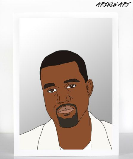 Kanye West A3 Digital Artwork on Crystal Archival by ArieleArt, $10.00