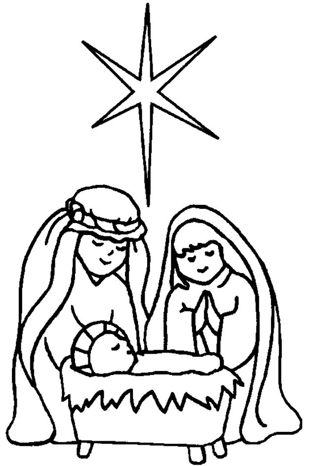 nativity coloring pages printable coloring pages for adults - Nativity Coloring Pages Printable