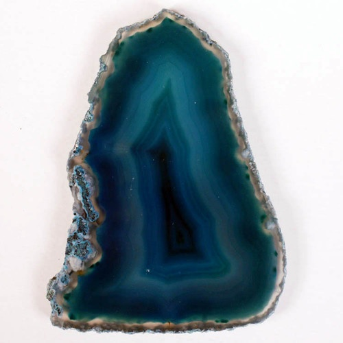 """Fabulous Polished Non Drilled TEAL AGATE SLICE 2 7/8"""" (72mm).  This is undrilled, but I do have a drill."""