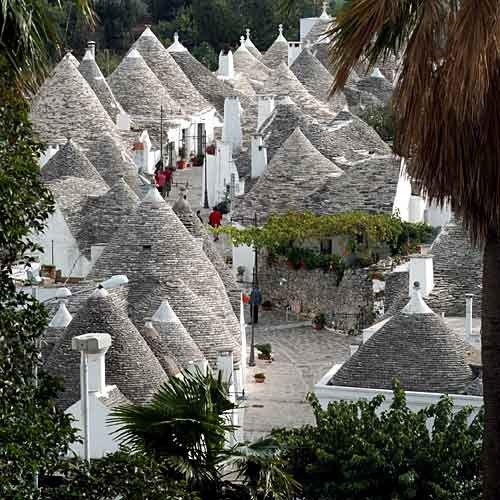 Trulli (from the greek late τρούλος, dome) are ancient dry stone buildings conical, of the Murge, typical and unique of the central and southern Puglia.