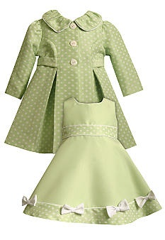 Bonnie Jean® Green Dot Dress Set    $34.80  Soooo stinking adorable!!! Our bank account is in trouble if this baby is a girl.