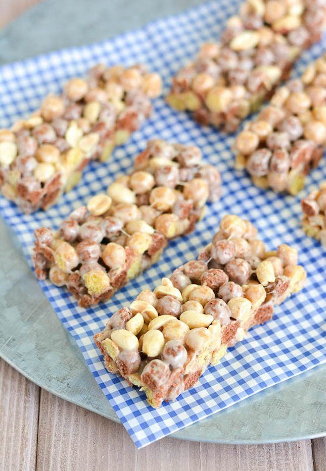 Save this breakfast or after school snack recipe to make Reese's Puffs Cereal Bars.
