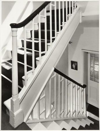 BL/WP/13882 The staircase in 18 Kensington Square seen from a bedroom door