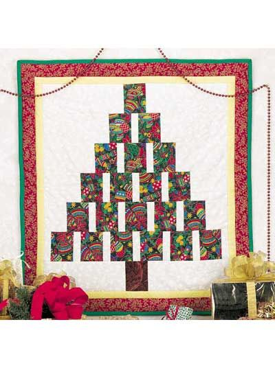 pattern for a pieced Christmas tree quilt--must join site (for free) for pattern download privileges