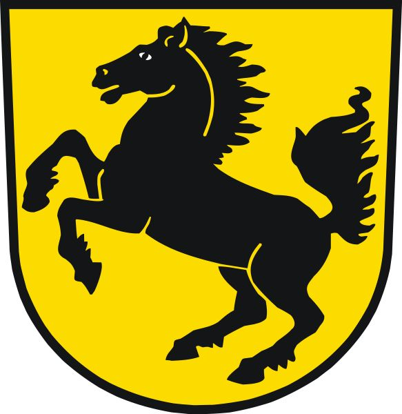 Porsche's company logo was based on the coat of arms of the Free People's State of Württemberg of former Weimar Germany, which had Stuttgart as its capital (the same arms were used by Württemberg-Hohenzollern from 1945-1952, while Stuttgart during these years were the capital of adjacent Württemberg-Baden)