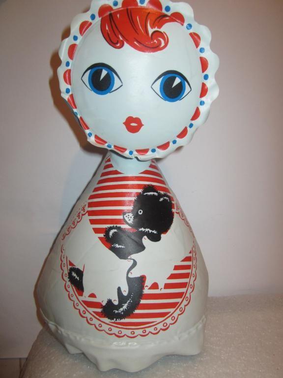 Надувная кукла с мишкой. Игрушки СССР - http://samoe-vazhnoe.blogspot.ru/
