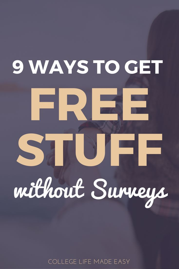 Free Stuff Without Surveys | How to Get | Freebies & Samples | Legit Free Stuff | For College Students | For Guys For Men For Girls For Women | Life Hacks | College Hacks | Tips & Tricks via @esycollegelife