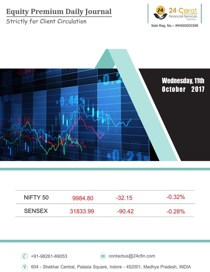 Equity premium daily journal 11th october 2017 wednesday