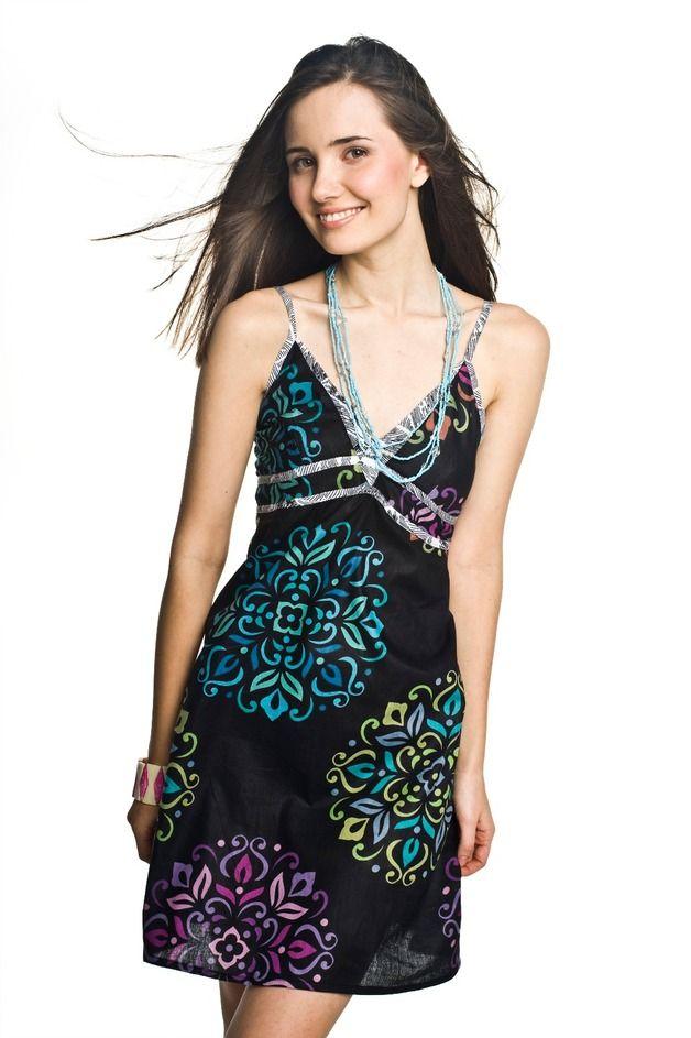 SUKIENKA BEACH CZARNA - PapayaLove - Sukienki mini