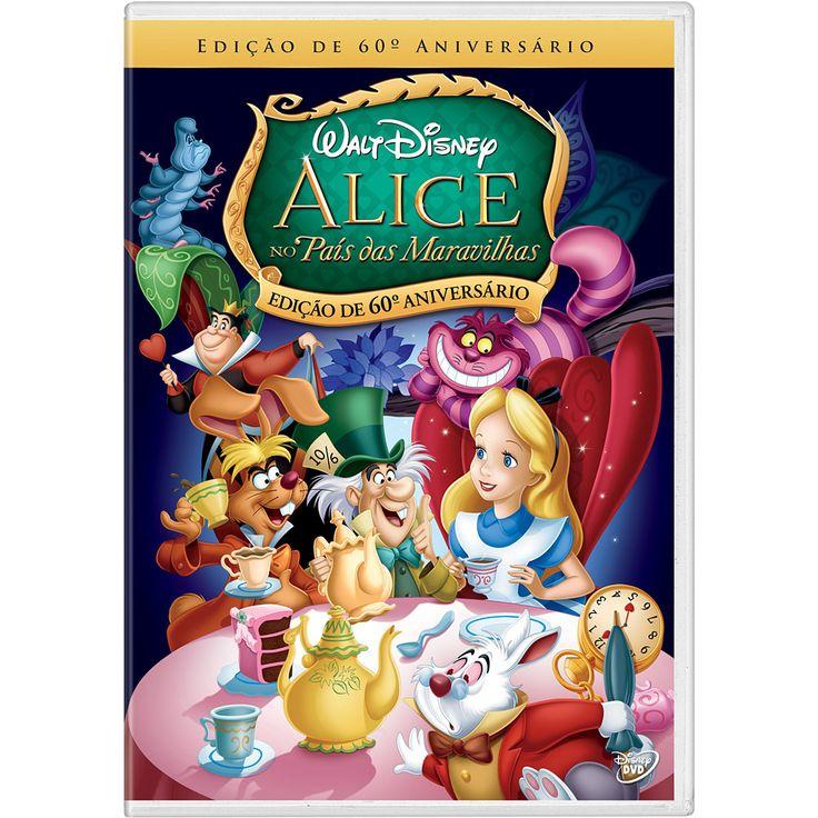 DVD Alice No País das Maravilhas: eu assistia toda hora quando pequena e agora são elas... amam esse filme desenho!
