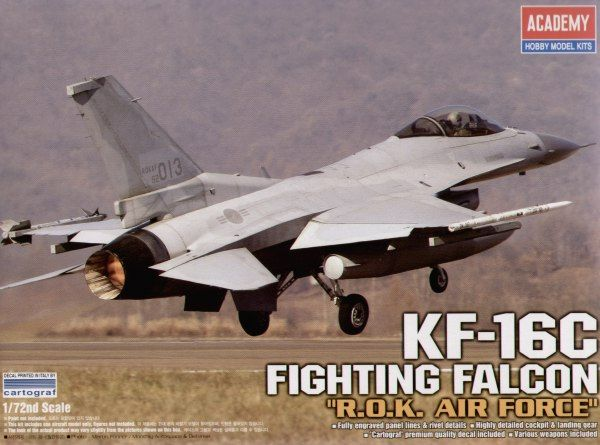 Korean Aerospace Industries (Lockheed Martin) KF-16C Fighting Falcon. Academy, 1/72, injection, No.12418. Price: 18,99 GBP.