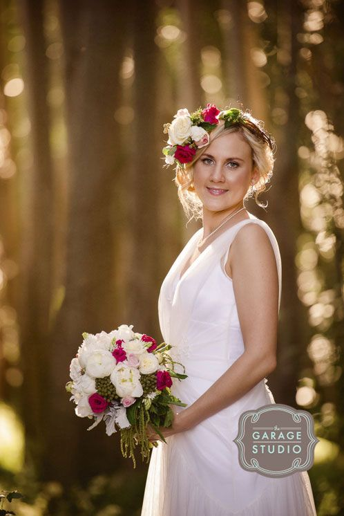 The beautiful bride Tara at Bringalbit farm near Kyneton