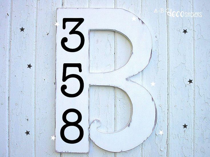 Cadeau idee voor in de feestmaand: maak een unieke en originele huisnummerbord met ABC Decostickers.  Fijne feestdagen!