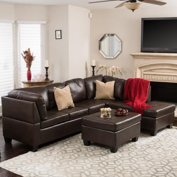 Canterbury 3-piece PU Leather Sectional Sofa Set by Christopher Knight Home | Overstock.com Shopping - The Best Deals on Sectional Sofas