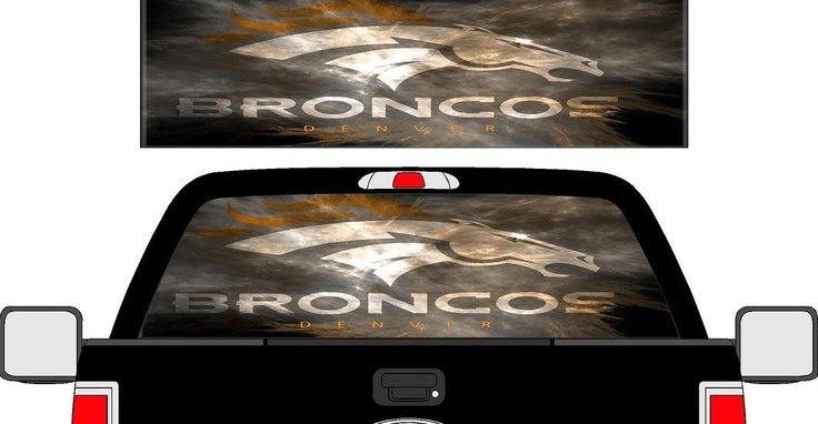 Denver Broncos Graphics Denver Broncos Rear Window See