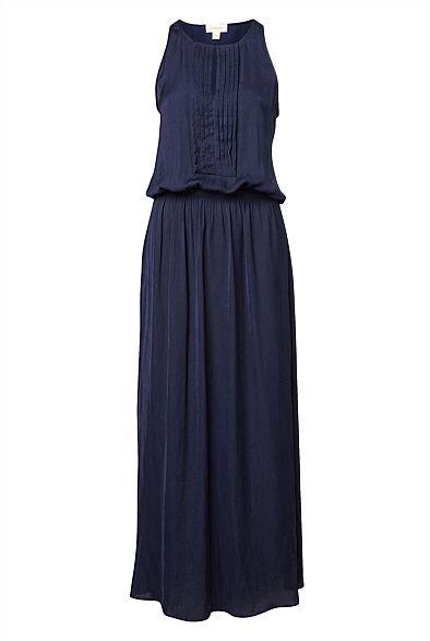 Pleat front maxi Dress