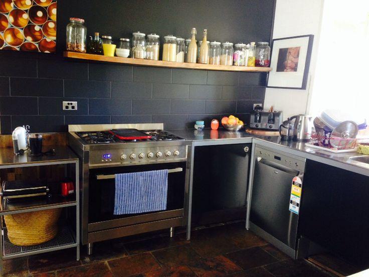 Lovely combo of black udden kitchen elements, black walls and ...   {Modulküche ikea udden 57}