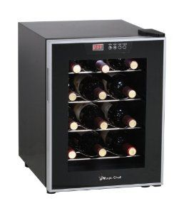Magic Chef 12 Bottle Wine Cooler Silver Mcwc12sv From