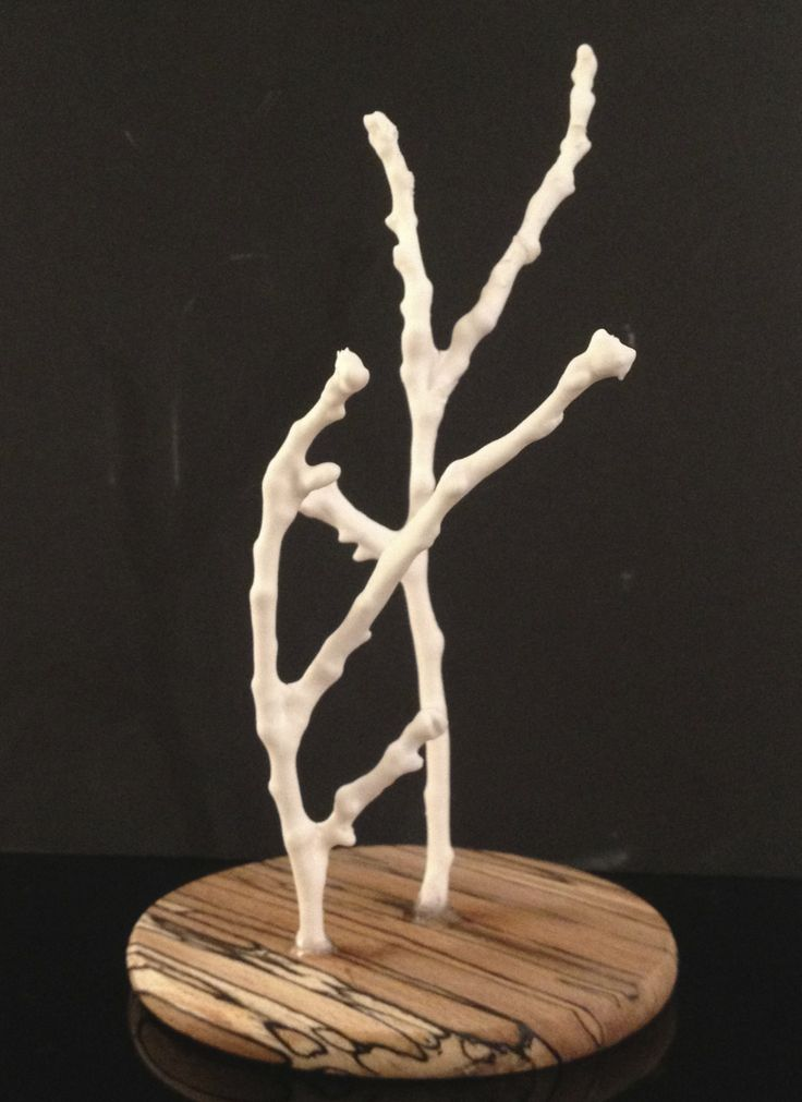 Porcelain twigs - made by Tracy Dryden-Jones