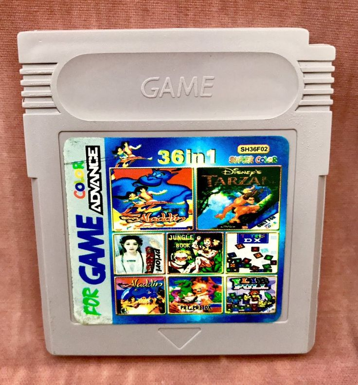 Gameboy Advance Games 36 Games In 1 Cart Handheld Console Vintage Retro