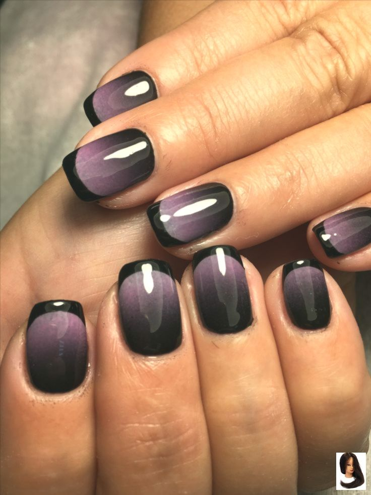 Purple Ombre Great Halloween Nails Idees Vernis A Ongles Jolis Ongles Vernis A Ongles