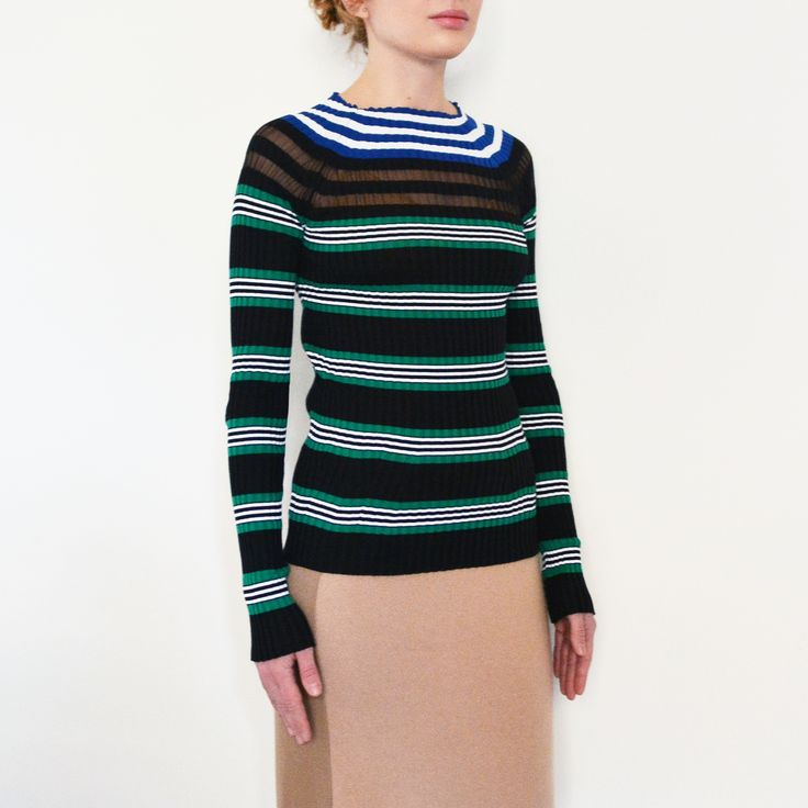 MRZ Multicolor striped jumper €355.00 Color: Multicolor Properties: Spring/Summer 2017 MADE: Italy Compositions: 70% Cotton 18% silk 4% cashmere 2% polyester 6% polyamide Measurements: Item fits true to size Models Measurements Height (cm): 166.00 Bust/Chest (cm): 82.00 Waist (cm): 64.00 Hips (cm): 88.00 Model is wearing size: S #ootd #outfit #outfitoftheday #lookoftheday #fashion #style #love #beautiful #currentlywearing #lookbook #whatiwore #whatiworetoday #clothes #mylook #mrz