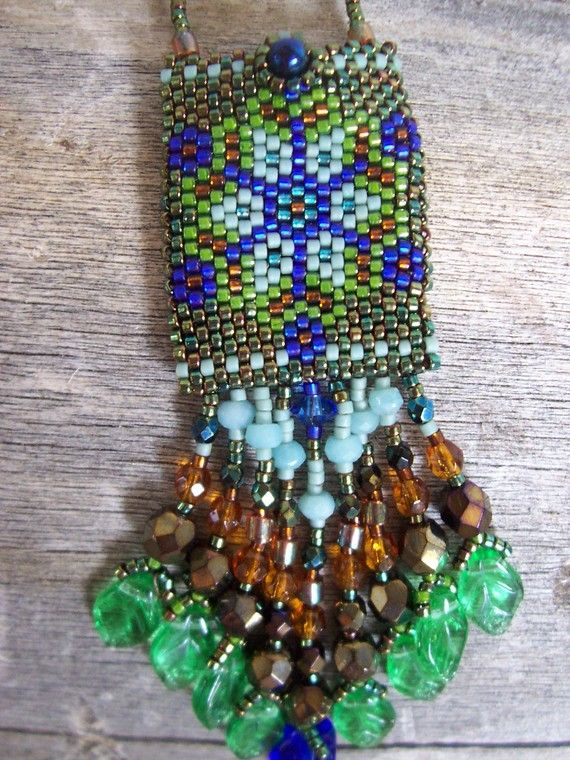 Handmade Artisan Beadwork Medicine Bag Amulet by DancingDogStudio
