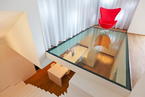 Luxembourg Apartment by Metaform Atelier D'architecture: Interiors Design, Luxembourg Apartment, Glassfloor, Floors Design, Glasses Floors, Interiordesign, House, Modern Home, Apartment Building