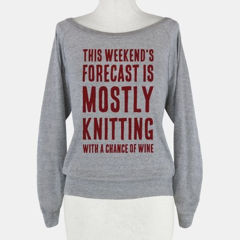Mostly Knitting with a Chance of Wine. Free domestic U.S. shipping on all orders of $50 or more.