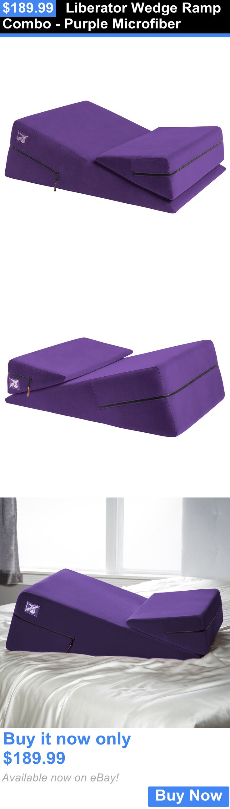 Massage Pillows and Bolsters: Liberator Wedge Ramp Combo - Purple Microfiber BUY IT NOW ONLY: $189.99
