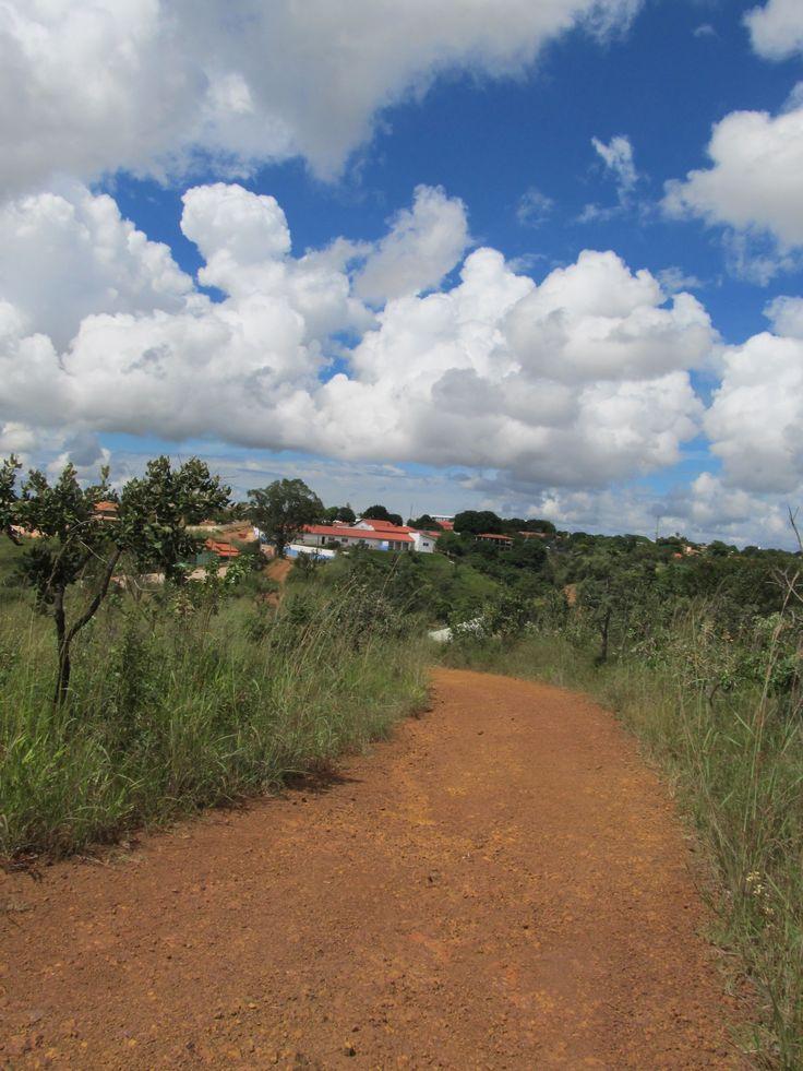 Remote view of Abadjania and Casa de Dom Inacio at the end of a dusty red road  #JohnofGod #CasadeDomInacio #energyhealing #faithhealing #entities #Abadiania #Abadianiaview