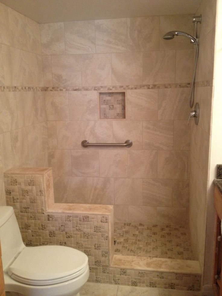 Find A Bathroom App: Bathroom Walk In Shower With Knee Wall