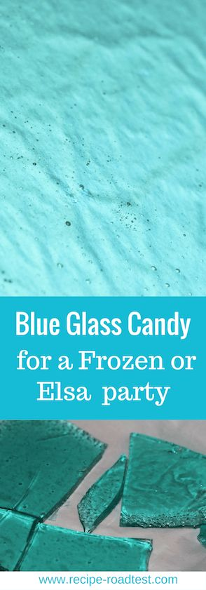 Make blue glass candy for the perfect Elsa or Frozen cake castle shards. Click through for recipe instructions with no sweets thermometer.