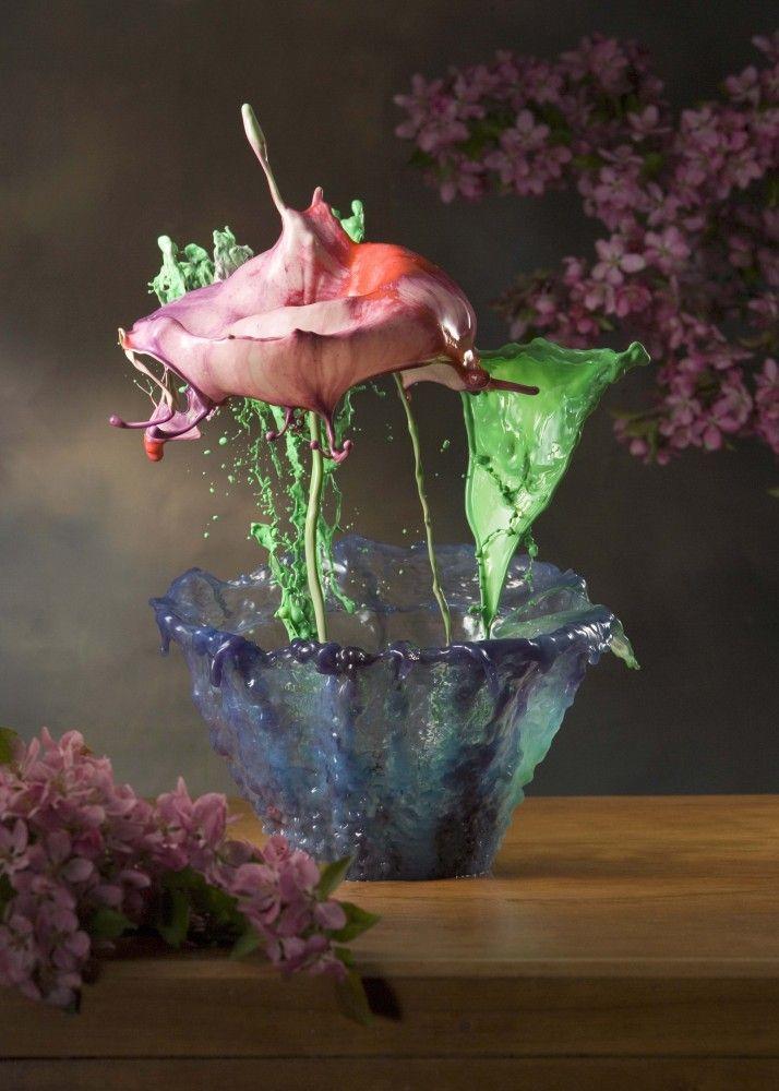 Mind-Blowing Splashes of Liquid Potted Flowers - My Modern Metropolis