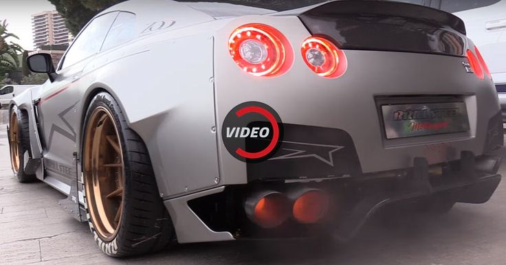 1,750 HP Nissan GT-R Attacks The Streets Of Monaco #Nissan #Nissan_GT_R