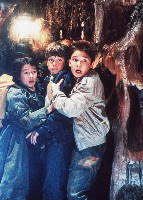 Jonathan Ke Quan, Sean Astin and Corey Feldman in...
