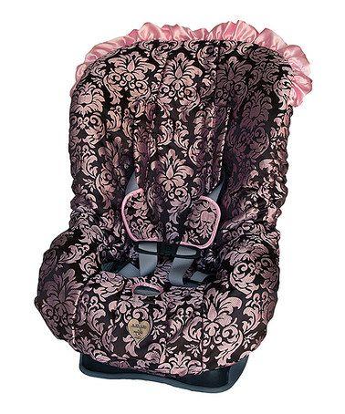 baby bella maya pink champagne toddler car seat cover set