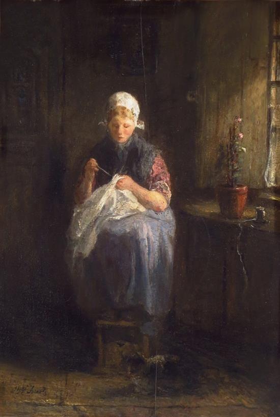 Jozef Israëls - Het naaisterstje