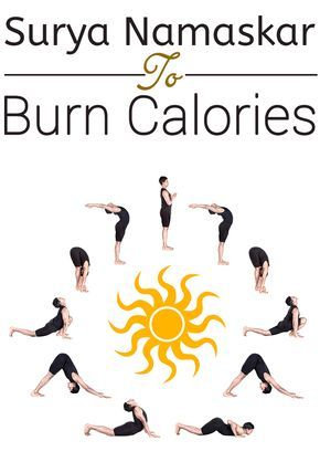 how many calories does surya namaskar help to burn