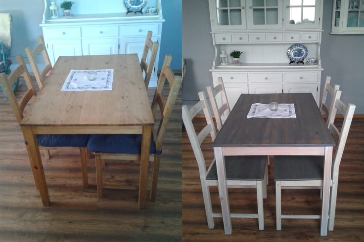 Pine table + chairs = wood stain