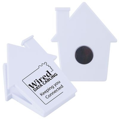 Perfect for real estate agents - a house shaped magnet.