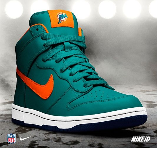 nike shoes miami dolphins color way