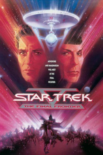 Star Trek V: The Final Frontier (1989) Directed by William Shatner.  With William Shatner, Leonard Nimoy, DeForest Kelley, James Doohan. Captain Kirk and his crew must deal with Mr. Spock's long-lost half-brother who hijacks the Enterprise for an obsessive search for God at the center of the galaxy.