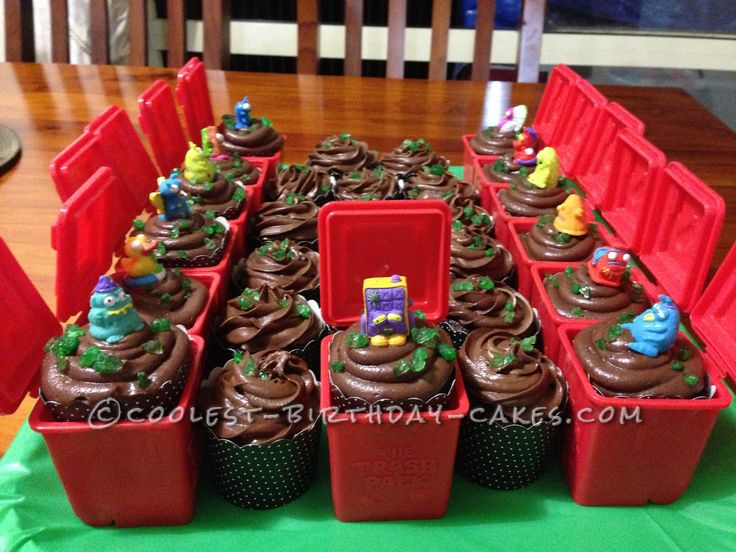 Coolest Trash Pack Cupcakes... This website is the Pinterest of birthday cake ideas
