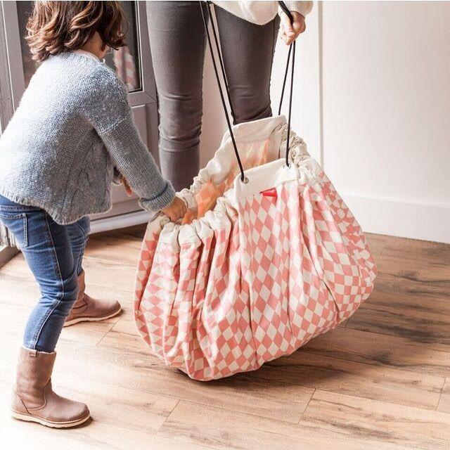 Новое поступление полосой 140 см холст игры ковров играть коврик ребенок играть ковер игрушки для хранения подарков в наличии купить на AliExpress