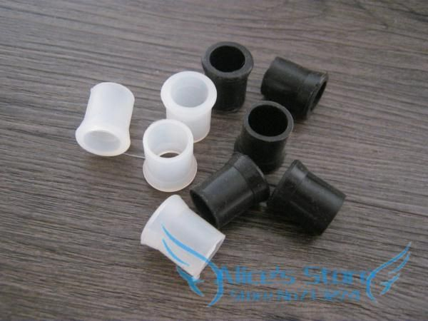 [Visit to Buy] Rubber Tobacco Smoking Pipe Tip Grips, Mouthpiece bites Narguile Accessories-- black & white, 2 sizes to choose 100pcs/lot #Advertisement