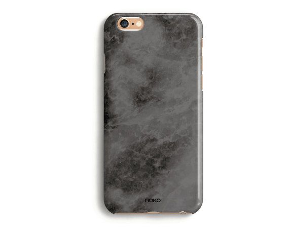 DESCRIPTION: NOKO Dark Marble Effect iPhone 6 /6S & Plus Case  Designed in Italy - Made in USA  The case is made of transparent polycarbonate