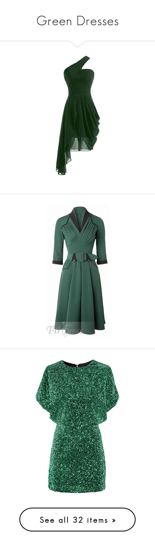 """""""Green Dresses"""" by eternalfeatherfilm on Polyvore featuring dresses, chiffon dresses, evening cocktail dresses, green evening dresses, chiffon evening dresses, special occasion dresses, plus size rockabilly dresses, plus size dresses, rockabilly dresses and flounce dress"""