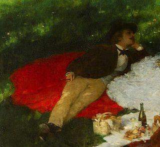 Szinyei Merse Pál, Majális, részlet, 1873, olaj, vászon, 127 x 162,5 cm